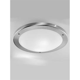 image-C1221 Flush Bathroom Light in Satin Nickel