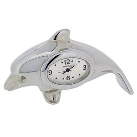 image-Table Clock Happy Larry Finish: Chrome