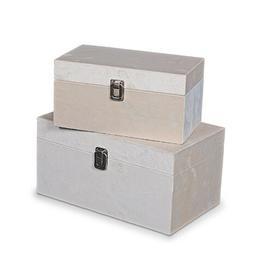 image-2 Piece Jewellery Box Set Fleur De Lis Living Finish: Beige