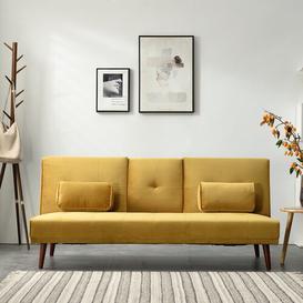 image-Godin 3 Seater Futon Sofa Corrigan Studio Upholstery Colour: Mustard