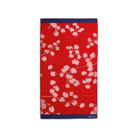 image-Joules Penzance Hand Towel, Red