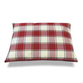 image-Harrington Pillow/Classic in Red/Beige