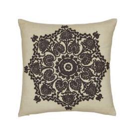 image-William Morris Bullerswood Cushion 40cm x 40cm, Charcoal