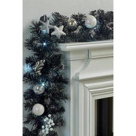 image-Black and Silver LED Garland