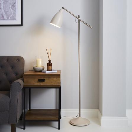 image-Robson Mushroom Lever Arm Floor Lamp Cream