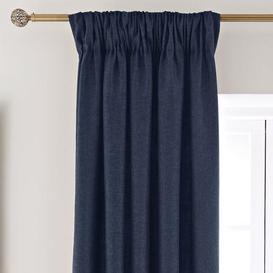 image-Vermont Navy Pencil Pleat Curtains Navy