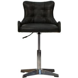 image-Additions Furniture Nelson Office Black Leather Bar Stool