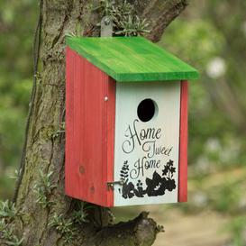 image-Ayres Home Tweet Home Wooden Nesting Box Hanging Bird House Brambly Cottage