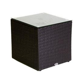 image-Sandford Aluminium Side Table Dakota Fields Table Top Colour: Brown