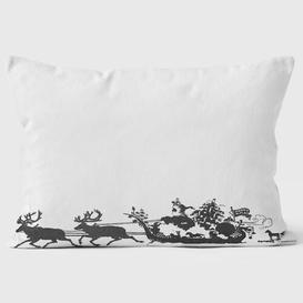 image-Sleigh Silhouette Christmas Cushion We Love Cushions