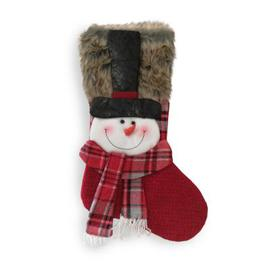 image-Snowman Red Christmas Stocking 20 Inch