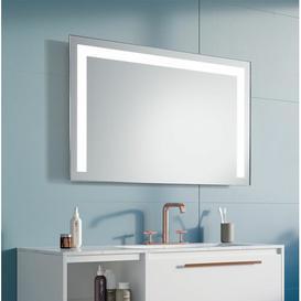 image-Poppy LED Illuminated Bathroom Mirror Wade Logan Size: 63cm H x 100cm W x 3.2cm D