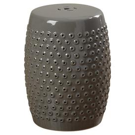 image-Queens Garden Stool Mercury Row Finish: Grey