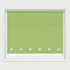 image-Square Edge Semi-Sheer Roller Blind Ebern Designs Finish: Lime Green, Size: 160 cm L x 150 cm W