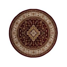 image-Antalya Traditional Circle Rug Red, Beige and Brown