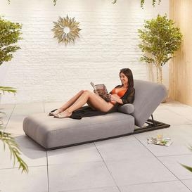 image-Nova Outdoor Fabric Serenity Flanelle Sun Lounger