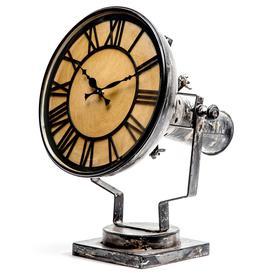 image-Iron Spotlight Style Table Clock