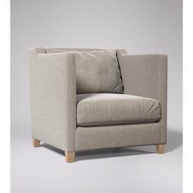 image-Swoon Edwick Armchair in Llama Smart Wool With Light Feet
