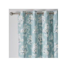 image-Erin Teal Eyelet Curtains Blush