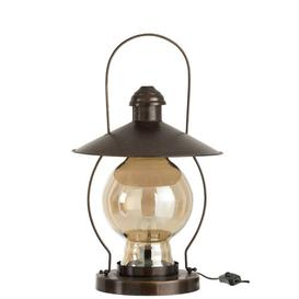 image-Camping Glass/Metal Lantern Brambly Cottage