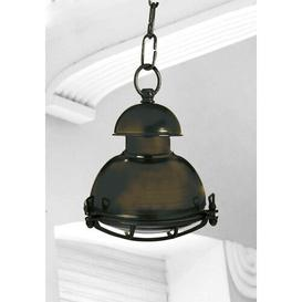 image-Chaya 1 Light Outdoor Pendant Longshore Tides Fixture Finish: Black Oxide