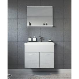 image-Jaelyn 600mm Wall Hung Single Vanity Unit Belfry Bathroom Vanity Base Colour: White High Gloss