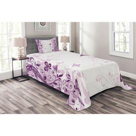 image-Freudenburg Butterfly Bedspread Set with Cushion Cover Ebern Designs Size: W175 x L220cm