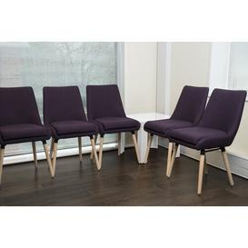 image-Wood Reception Chair (Set of 2) Brayden Studio Seat Colour: Plum