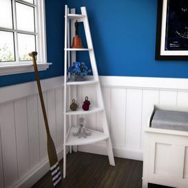 image-Pierview Corner Bookcase Beachcrest Home Colour: White