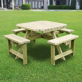image-Whitwell Picnic Table Sol 72 Outdoor Finish: Light Green