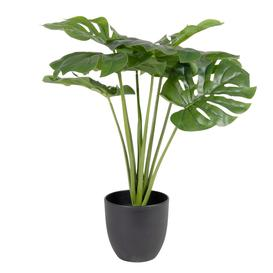 image-Potted artificial monstera