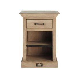 image-Bedside table with drawer in mango wood, L 45 cm Naturaliste