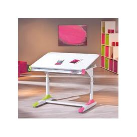 image-Dexter Children Computer Desk In White With Pink And Green Alter