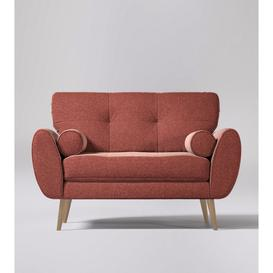 image-Swoon Egle Love Seat in Pimpernel Smart Wool With Light Feet