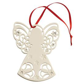 image-Christmas Angel with Gems Hanging Figurine Belleek Home