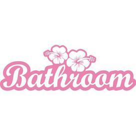 image-Bathroom, Flowers Wall Sticker East Urban Home Colour: Light pink, Size: 57 cm H x 169 cm W