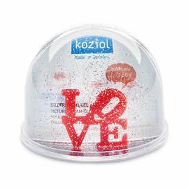 image-Love Snow Globe Koziol Size: 9cm H x 10cm W x 10cm D