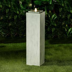 image-Barnham Concrete Fountain with Light Sol 72 Outdoor Size: 113cm H x 30cm W x 30cm D