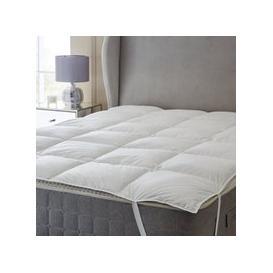 image-Hotel Duck Down Mattress Enhancer White