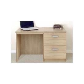image-Small Office Desk Set With 2 Drawer Filing Cabinet (Sandstone)