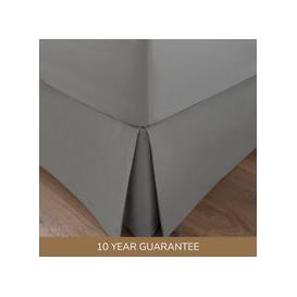 image-Dorma 300 Thread Count 100% Cotton Sateen Plain Silver Pleated Valance Silver