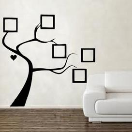 image-Picture Frame Tree Decal Vinyl Wall Sticker East Urban Home Colour: Light Blue, Size: Large