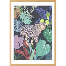 image-Leopard Jungle Framed Wall Art Print A1, Multi