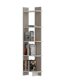 image-Hutcherson Corner Bookcase Ebern Designs Colour: Cordoba/White
