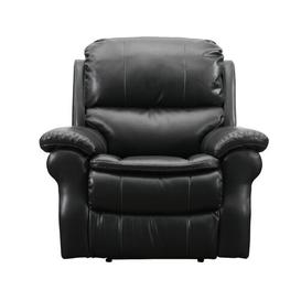 image-Gauvin Manual Recliner Ebern Designs Upholstery Colour: Black