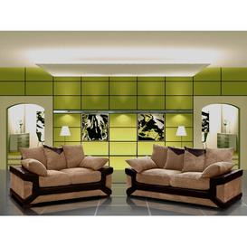 image-2 Piece Sofa Set ClassicLiving Colour: Brown/Brown
