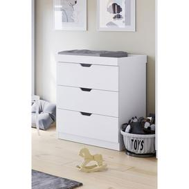 image-Ickle Bubba Coleby White Chest of Drawers / Changer