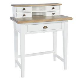 image-Rowico Lulworth White Writing Desk
