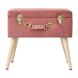 image-Lavinia Storage Ottoman Fj├╕rde & Co Upholstery Colour: Bright Pink