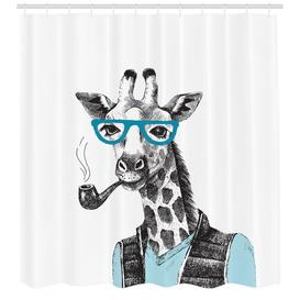 image-Hipster Shower Curtain East Urban Home Size: 200cm H x 175cm W
